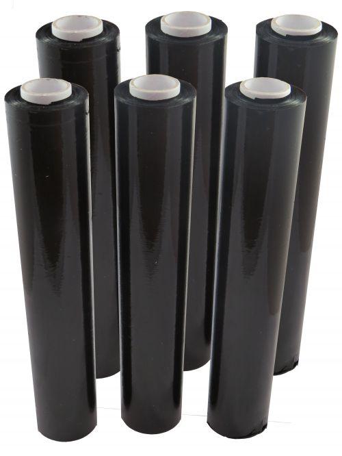 Black Hand Stretch Film Flush Core 25 Micron 500mm x 150m (Pack 6) Code