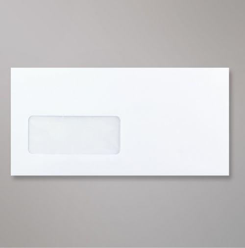 Wallet Peel & Seal DL Super White 120gsm 110 x 220mm Window 39 x 93mm 17 FLHS 22 Up No Opaque (Box 500) Code