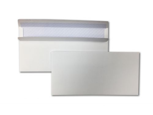 Wallet Self-Seal DL White 90gsm 110 x 220mm Blue Hatch Inner Opaque (Box 1000) Code ENVDL/10107