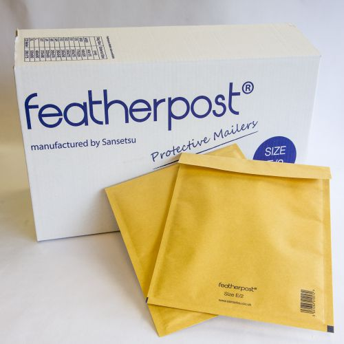 Featherpost Bubble Lined Mailers F Gold 250mm x 345mm (Pack 100) Code