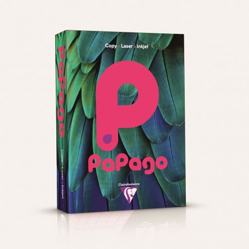 Papago Fluorescent Pink A4 80gsm Paper (Box 2500) Code