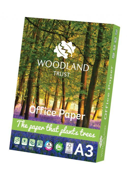Woodland Trust Printer Paper FSC A3 75gsm White Paper (Box 2500) Code