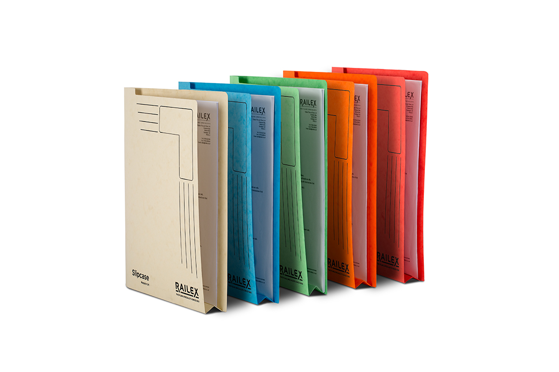 Railex Slipcase Folder A4 Assorted PK25