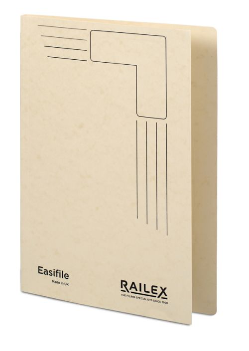 Railex Easifile E7 Foolscap 350gsm Ivory PK25
