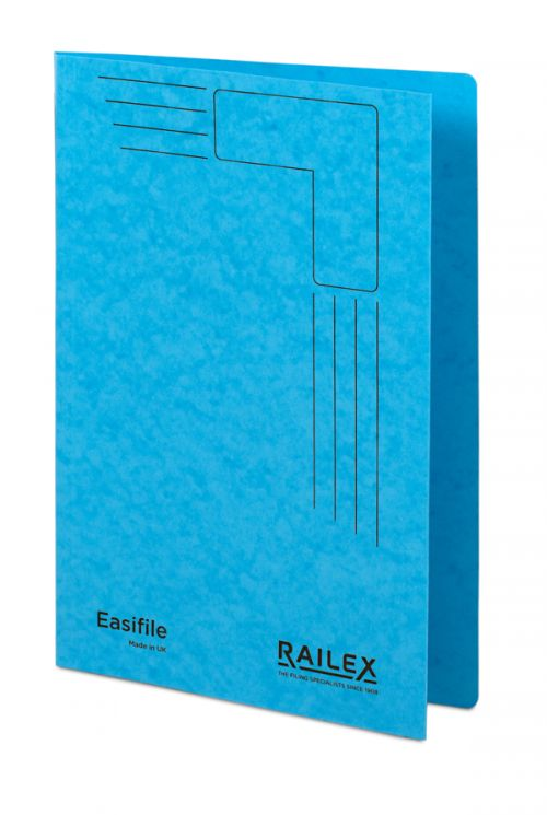 Railex Easifile E74 A4 350gsm Turquoise PK25