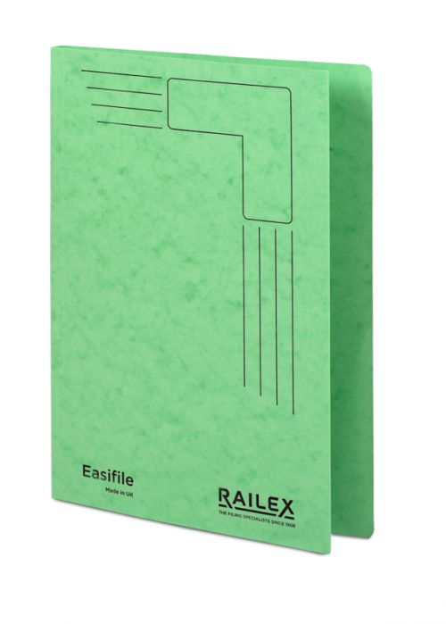 Railex Easifile E74 A4 350gsm Emerald PK25