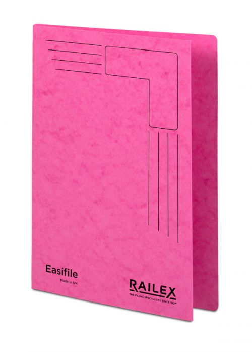 Railex Easifile E74 A4 350gsm Cerise PK25