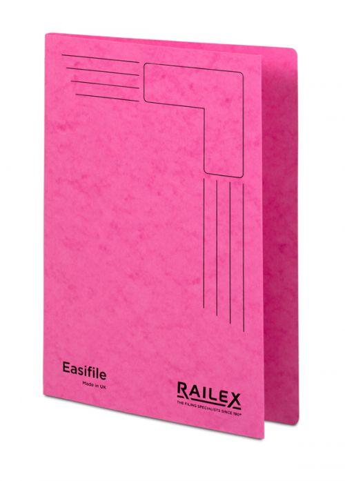Railex Easifile E7 Foolscap 350gsm Cerise PK25