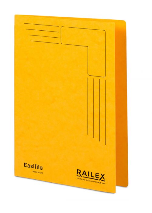 Railex Easifile E7 Foolscap 350gsm Gold PK25
