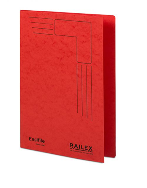 Railex Easifile E7 Foolscap 350gsm Ruby PK25