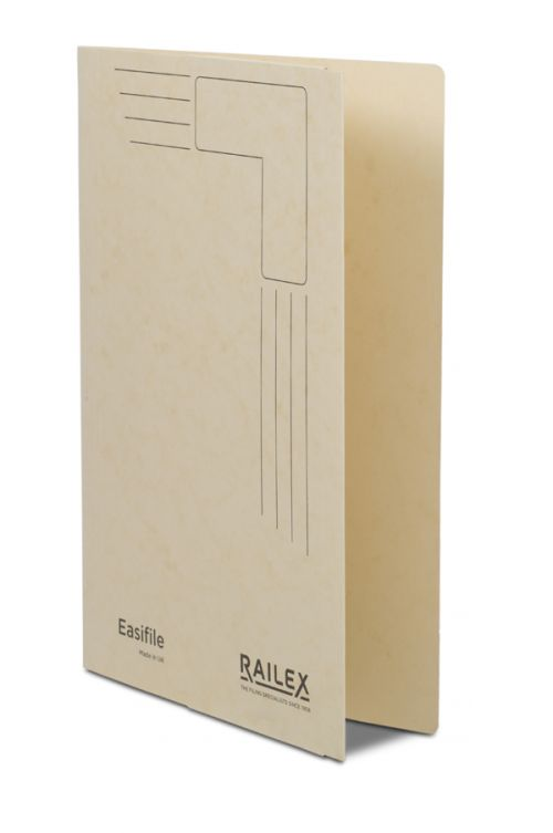Railex Easifile with Pocket EP7 Foolscap 350gsm Ivory PK25