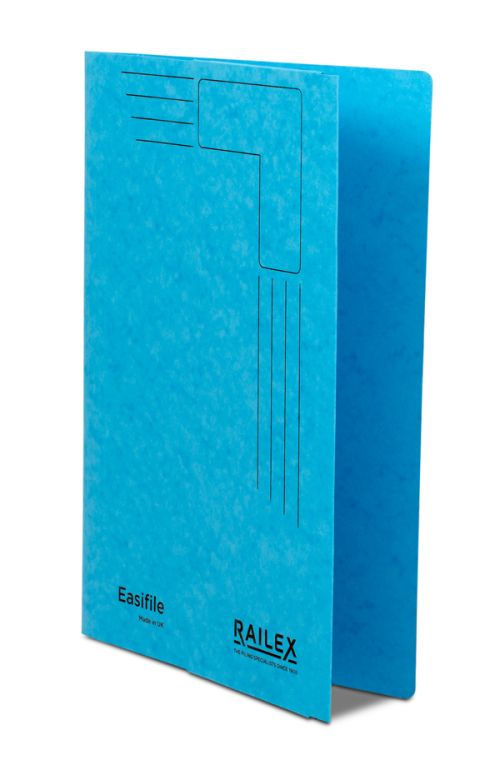 Railex Easifile with Pocket EP74 A4 350gsm Turquoise PK25
