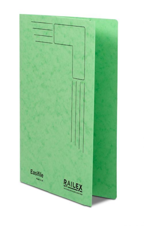 Railex Easifile with Pocket EP74 A4 350gsm Emerald PK25