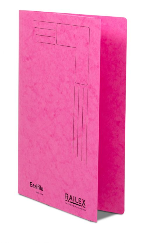 Railex Easifile with Pocket EP74 A4 350gsm Cerise PK25