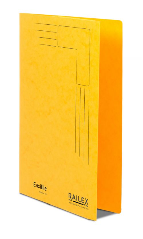 Railex Easifile with Pocket EP7 Foolscap 350gsm Gold PK25