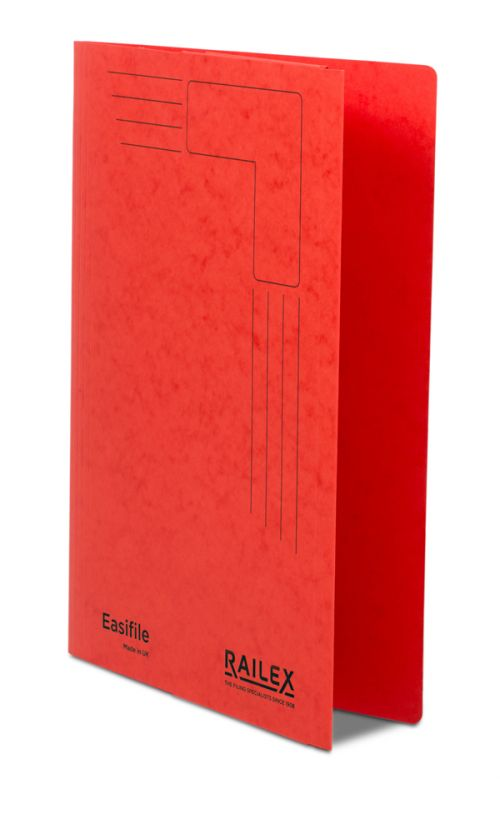 Railex Easifile with Pocket EP74 A4 350gsm Ruby PK25