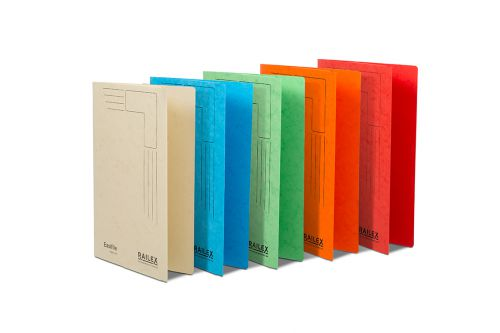 Railex Easifile with Pocket EP74 A4 350gsm Assorted PK25