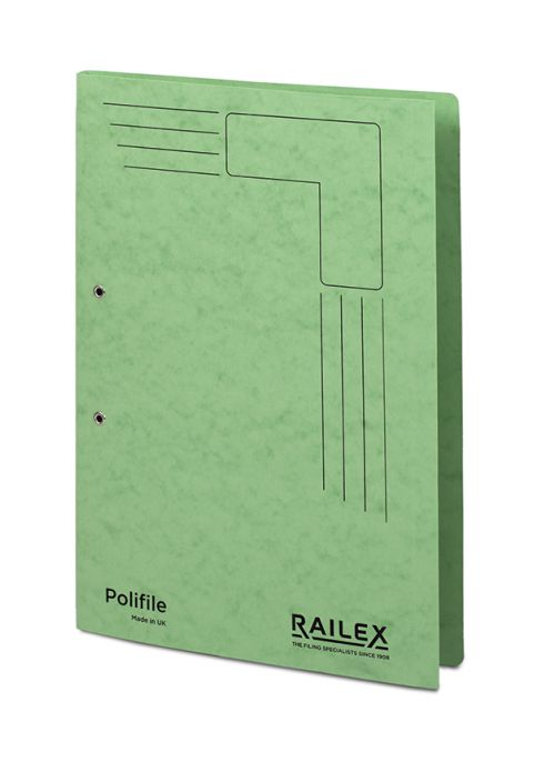 Railex Polifile PL5 Foolscap 350gsm Emerald PK25