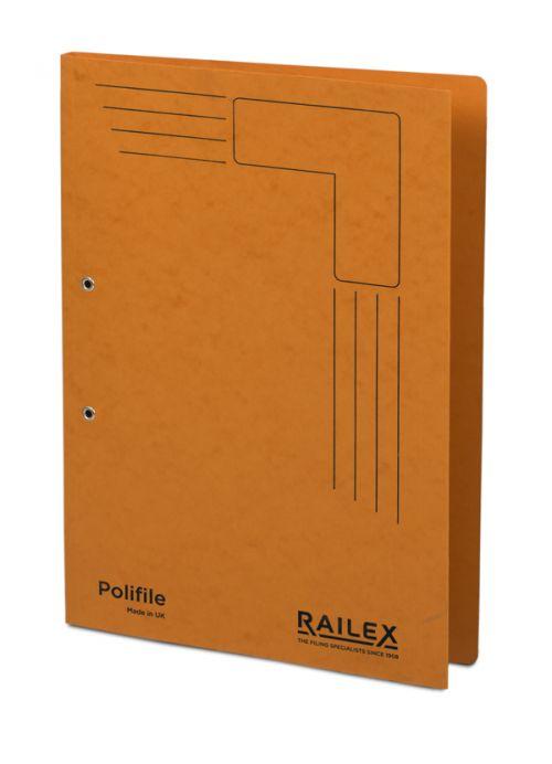 Railex Polifile PL5 Foolscap 350gsm Mandarin PK25