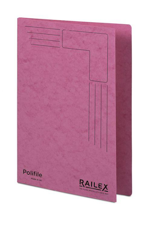 Railex Polifile PL5 Foolscap 350gsm Cerise PK25