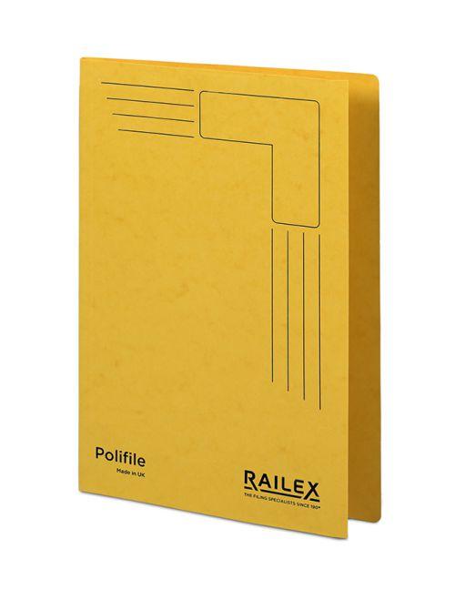 Railex Polifile PL5 Foolscap 350gsm Gold  PK25