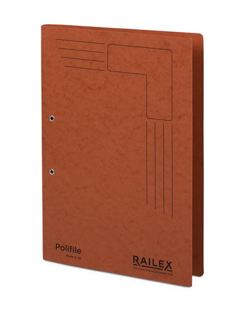 Railex Polifile PL5 Foolscap 350gsm Ruby PK25