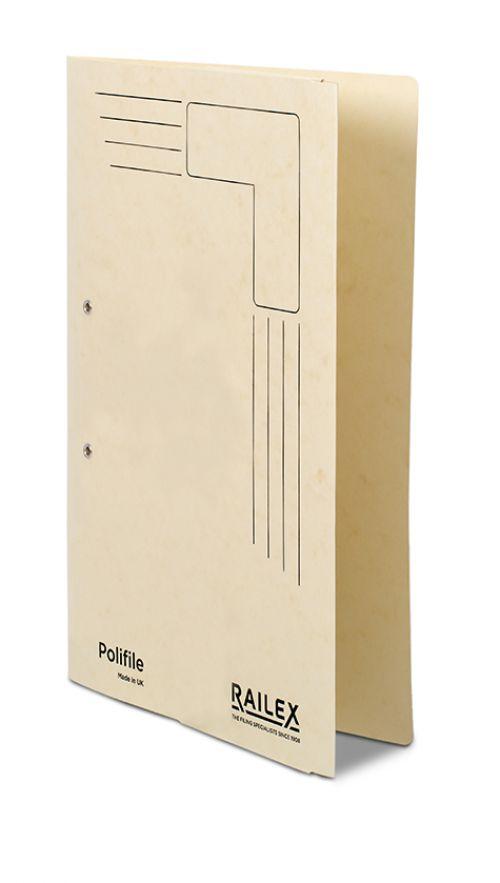 Railex Polifile PL5P Foolscap with Pocket 350gsm Ivory PK25