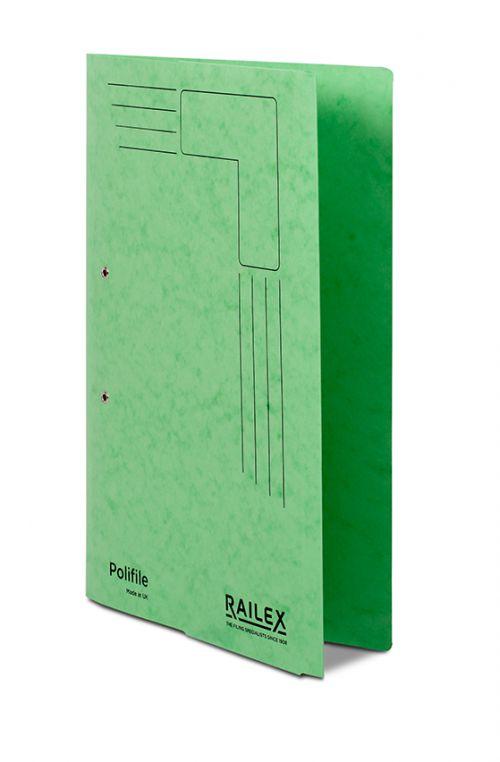 Railex Polifile PL5P Foolscap with Pocket 350gsm Emerald PK25