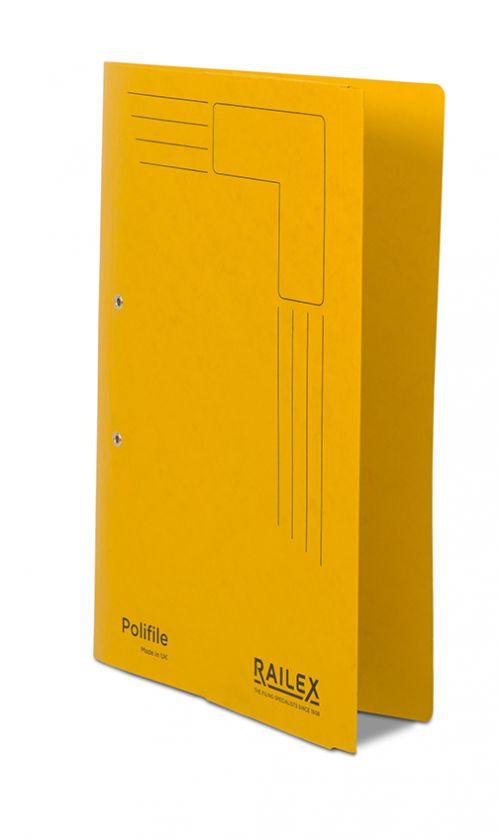 Railex Polifile PL5P Foolscap with Pocket 350gsm Gold  PK25