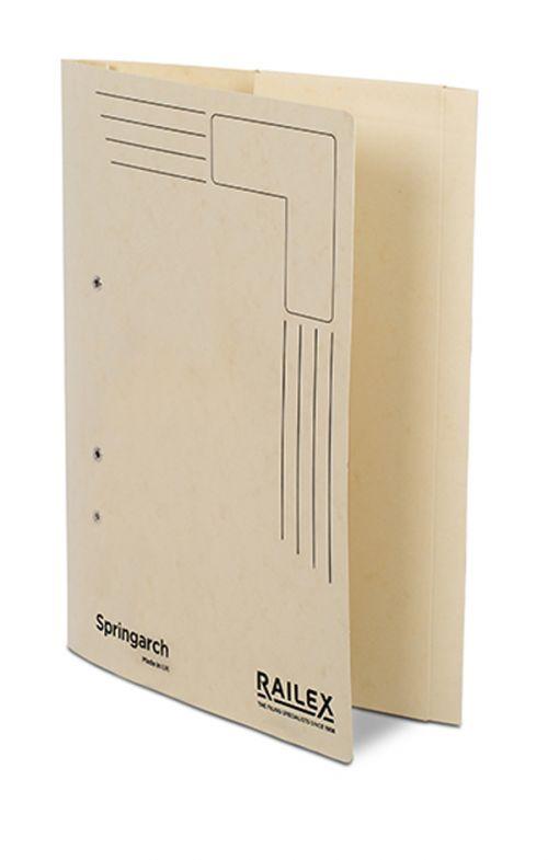 Railex Springarch SA3P Foolscap with Pocket 350gsm Ivory PK25