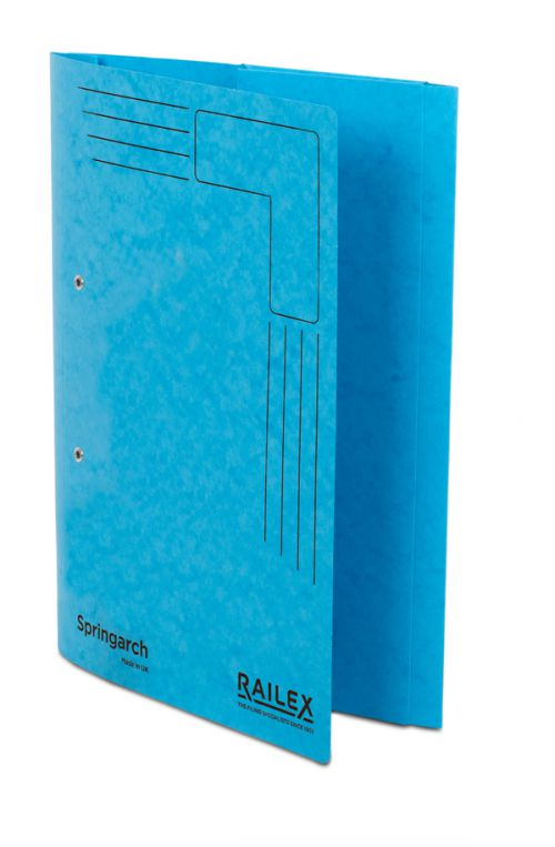 Railex Springarch SA3P Foolscap with Pocket 350gsm Turquoise PK25