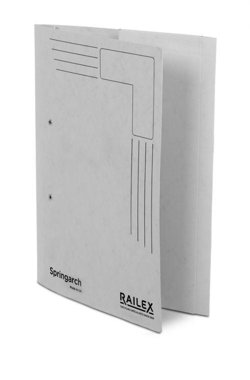 Railex Springarch SA3P Foolscap with Pocket 350gsm Pearl PK25