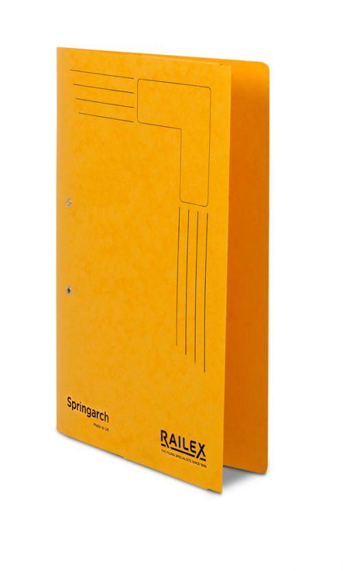 Railex Springarch SA3P Foolscap with Pocket 350gsm Gold PK25