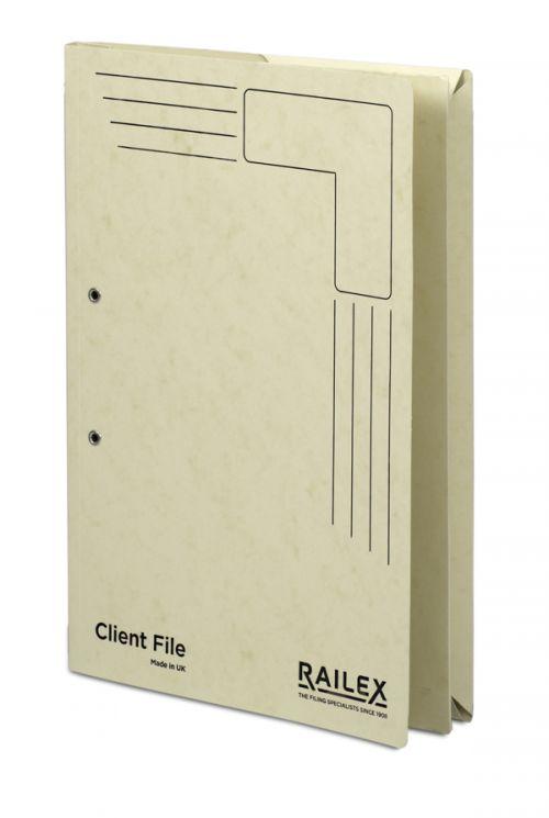 Railex Clientfile CF5P Foolscap 350gsm Ivory PK25