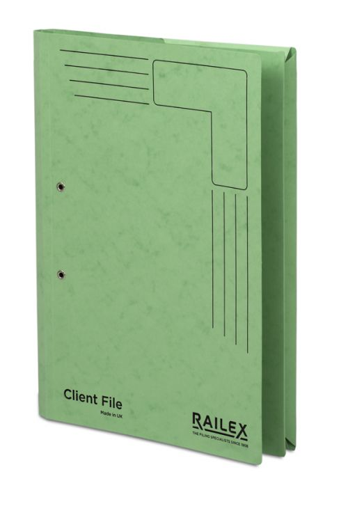 Railex Clientfile CF5P Foolscap 350gsm Emerald PK25
