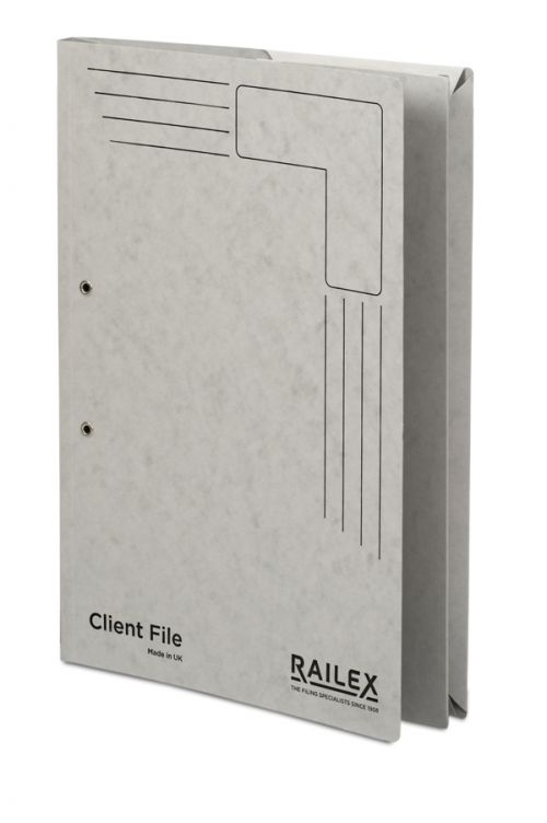 Railex Clientfile CF5P Foolscap 350gsm Pearl PK25