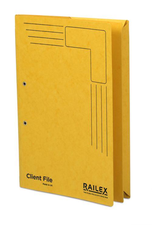 Railex Clientfile CF5P Foolscap 350gsm Gold PK25