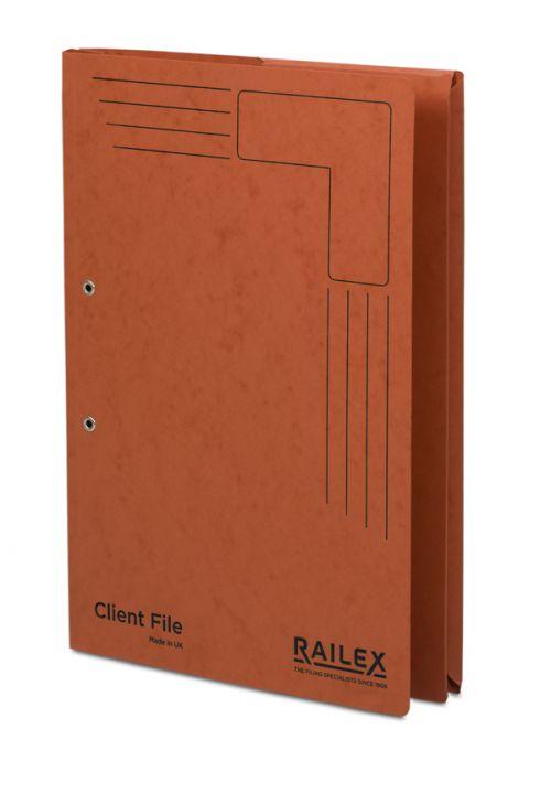 Railex Clientfile CF5P Foolscap 350gsm Ruby PK25