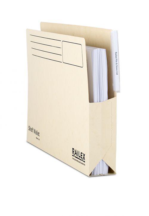Railex Shelf Wallet with Tab SW5 Foolscap 350gsm Ivory PK25