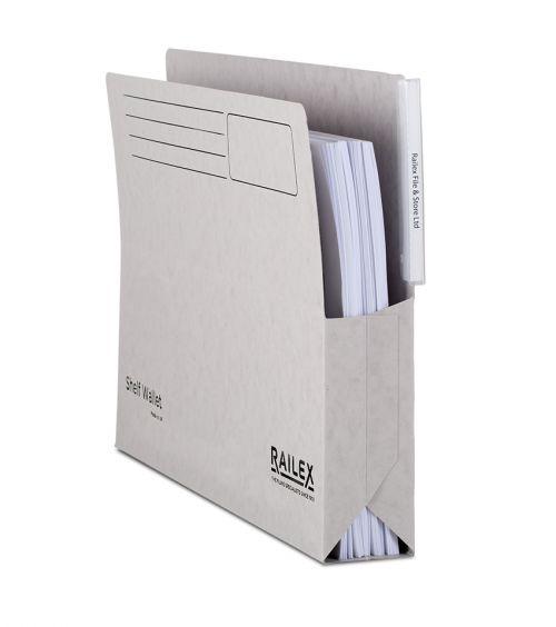 Railex Shelf Wallet with Tab SW5 Foolscap 350gsm Pearl PK25
