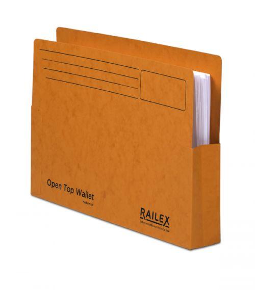 Railex Open Top Wallet OT5 Foolscap 350gsm Mandarin PK25