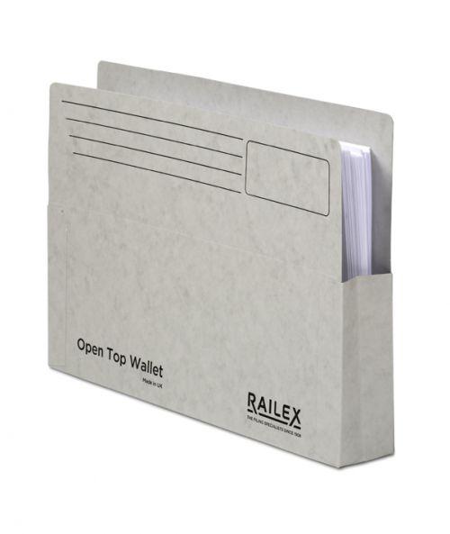 Railex Open Top Wallet OT5 Foolscap 350gsm Pearl PK25