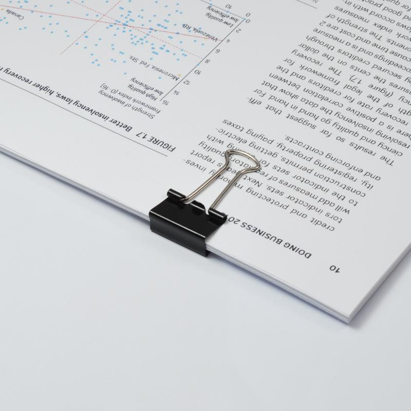 Value Foldback Clips 19mm Black PK10