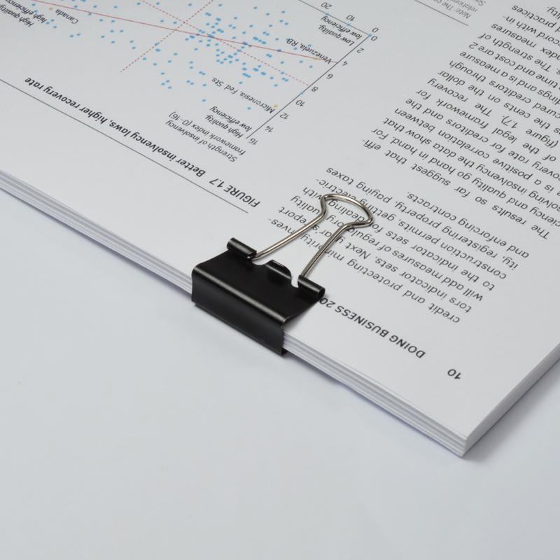 Value Foldback Clips 25mm Black PK10