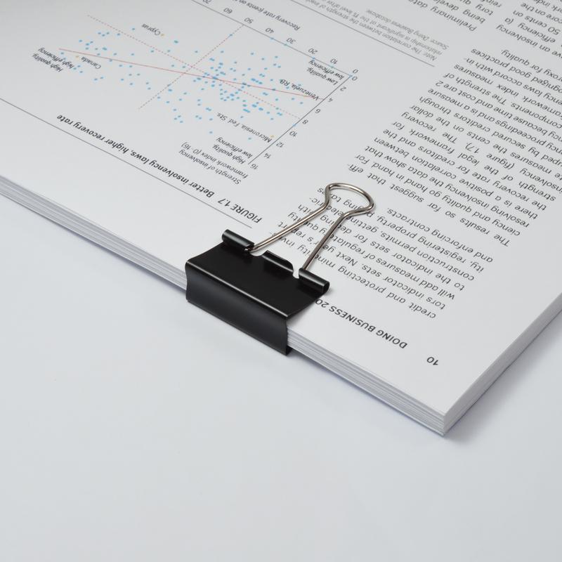 Value Foldback Clips 32mm Black PK10
