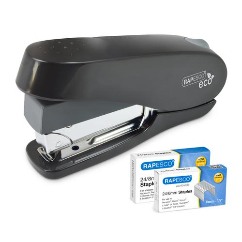 Rapesco Germ Savvy Luna ECO Stapler With 2000 Staples Black