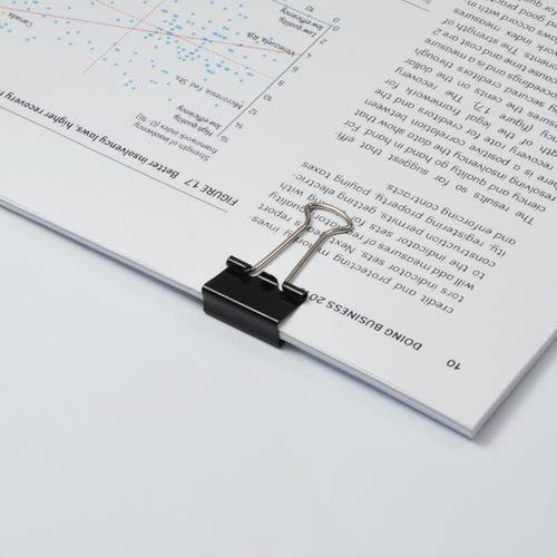 ValueX Foldback Clip 19mm Black (Pack 10)
