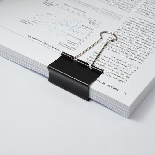 ValueX Foldback Clip 50mm Black (Pack 10)