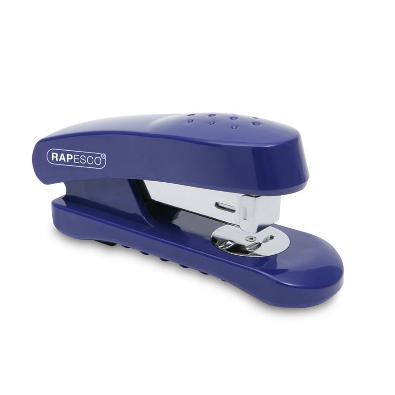 Rapesco Snapper Half Strip Stapler Plastic 20 Sheet Blue