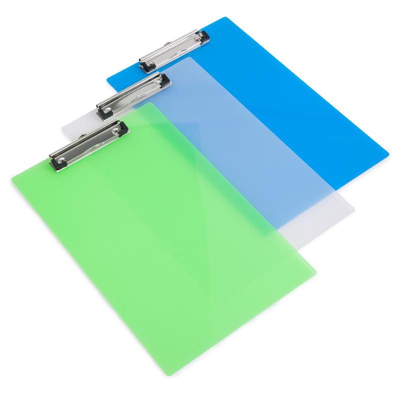 Clipboards Rapesco Frosted Transparent Clipboard A4 Assorted Colours